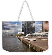 River Promenade In Rotterdam Weekender Tote Bag