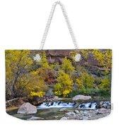 River Rapids In Zion Weekender Tote Bag