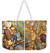 River Rocks 9 In Stereo Weekender Tote Bag