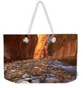 River Rocks In The Narrows Weekender Tote Bag