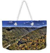 River Running Through A Valley Weekender Tote Bag