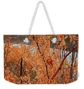 River Side Foliage Autumn Weekender Tote Bag