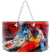 River Speed Boat Number 2 Photo Art Weekender Tote Bag