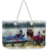 River Speed Boat Photo Art Weekender Tote Bag