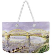 River Thames At Barnes Weekender Tote Bag by Sarah Butterfield
