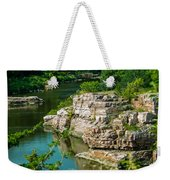 River Through The Rocks Weekender Tote Bag