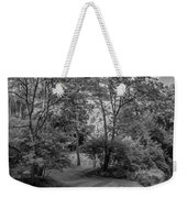 River Tranquility Monochrome Weekender Tote Bag