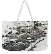 River Vertical Weekender Tote Bag