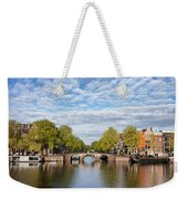 River View Of Amsterdam In The Netherlands Weekender Tote Bag