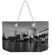 River View Of Cleveland Ohio Weekender Tote Bag