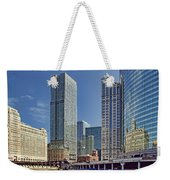 River View Skyline Weekender Tote Bag