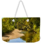 River View With Reflections - Digital Paint Weekender Tote Bag