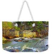 River Wall Weekender Tote Bag