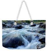 River Water Flowing Through Rocks At Dawn Weekender Tote Bag
