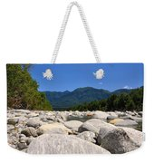 River With Mountain Weekender Tote Bag