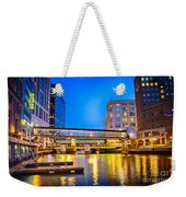 Riverwalk Shimmer Weekender Tote Bag