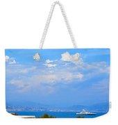 Riviera Blues Weekender Tote Bag