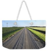 Road Across North Dakota Prairie Weekender Tote Bag