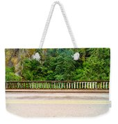 Road And Lush Green Forest Weekender Tote Bag