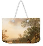 Road By The Edge Of A Lake Weekender Tote Bag