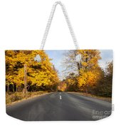 Road In Autumn Forest Weekender Tote Bag