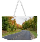 Road Passing Through A Forest, Alger Weekender Tote Bag