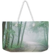 Road Passing Through A Forest, Skyline Weekender Tote Bag
