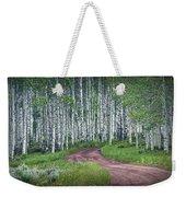 Road Through A Birch Tree Grove Weekender Tote Bag