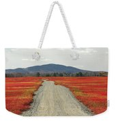 Road Through Autumn Blueberry Maine Weekender Tote Bag by Scott Leslie