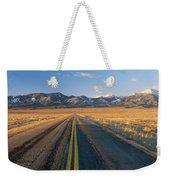 Road Through Desert Weekender Tote Bag
