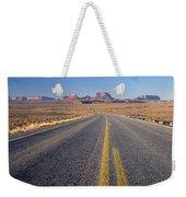 Road Through Monument Valley, Utah Weekender Tote Bag