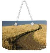 Road Through Wheat Field Weekender Tote Bag