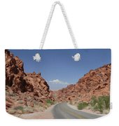 Road Throught The Valley Of Fire Weekender Tote Bag