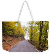 Road With Autumn Trees Weekender Tote Bag
