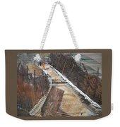 Road With Dense Fencing  Weekender Tote Bag