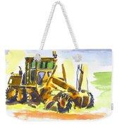 Roadmaster Tractor In Watercolor Weekender Tote Bag by Kip DeVore