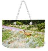 Roadside Buck Weekender Tote Bag