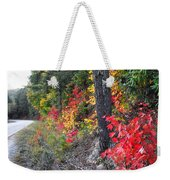 Roadside Fall Colors Weekender Tote Bag