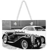 Roadster In Black And White Weekender Tote Bag