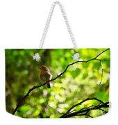 Robin In The Glade Weekender Tote Bag