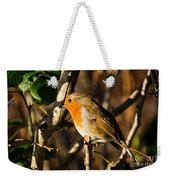 Robin In The Hedgerow Weekender Tote Bag