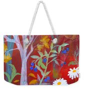 Robin's Blueberry Daisy Sunshiny Day Weekender Tote Bag