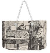 Robinson Crusoe Building Table And Chairs For His Cave Weekender Tote Bag
