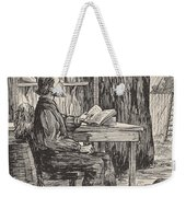Robinson Crusoe In His Cave Weekender Tote Bag