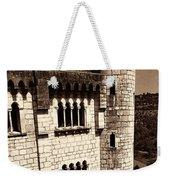 Rocamadour Stone Tower Vertical Panorama Sepia Weekender Tote Bag