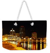 Rochester At Night Weekender Tote Bag