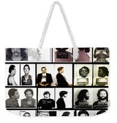 Rock And Roll's Most Wanted Weekender Tote Bag