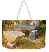 Rock Bench And Table Weekender Tote Bag