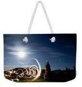 Rock Cairn With Light Painting Next Weekender Tote Bag