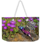Rock Flower Birguana Fly Weekender Tote Bag